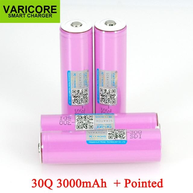 VariCore 3,7 V 18650 ICR18650 30Q 3000mAh li ion akku Für Taschenlampe Batterien + Spitzen