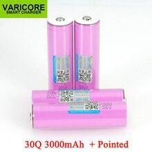 VariCore 3.7V 18650 ICR18650 30Q 3000mAh li ion batterie Rechargeable pour piles de lampe de poche + pointu