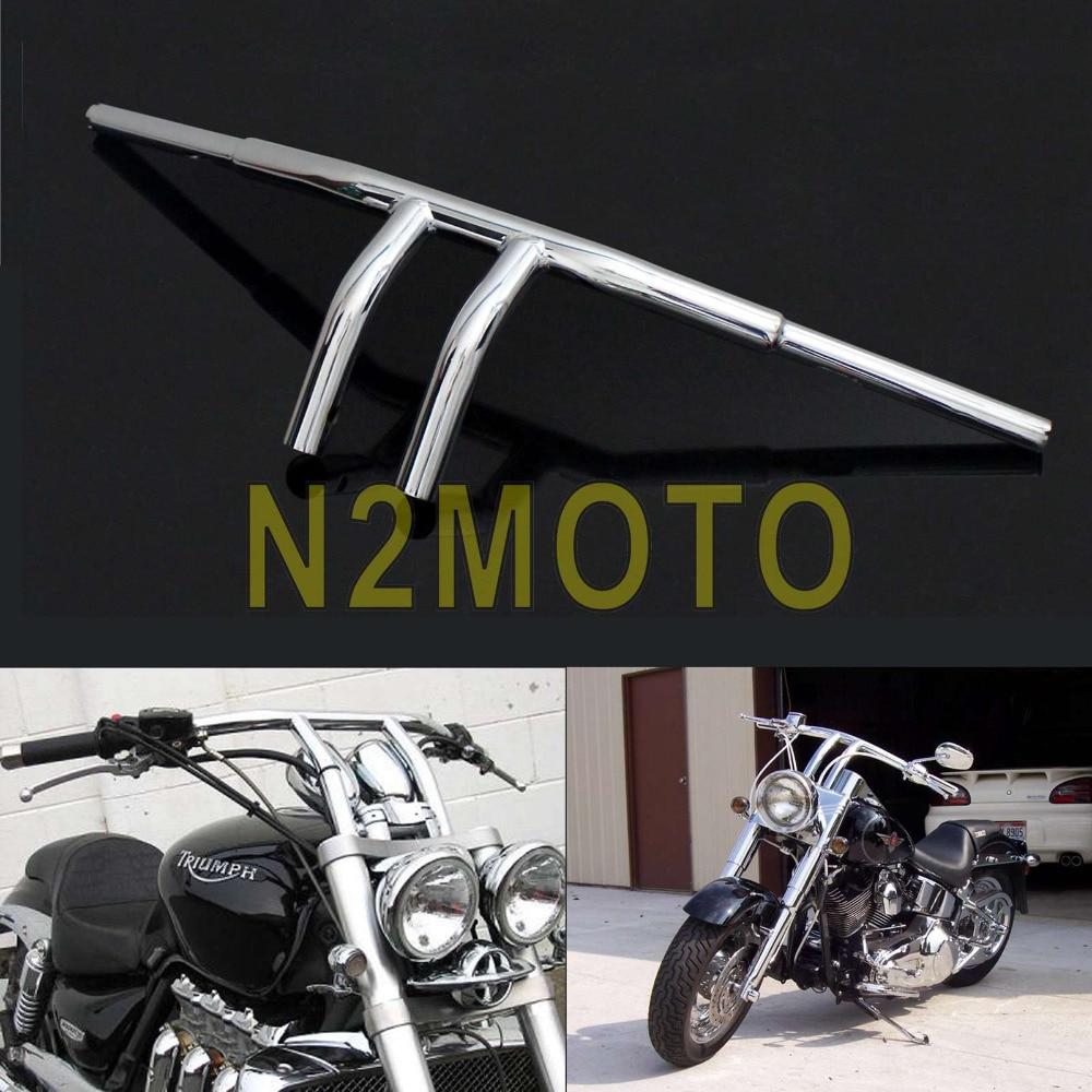 Chrome Custom Motorcycle Handlebar 8 Rise T Bars 1 1 4 Fat Bar for Harley Chopper