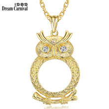 DC1989 Women Optical Chain with 2X Zoom Magnifier Lens Reading Glass for Fine Print Pendant Necklace Rhodium or Gold-color