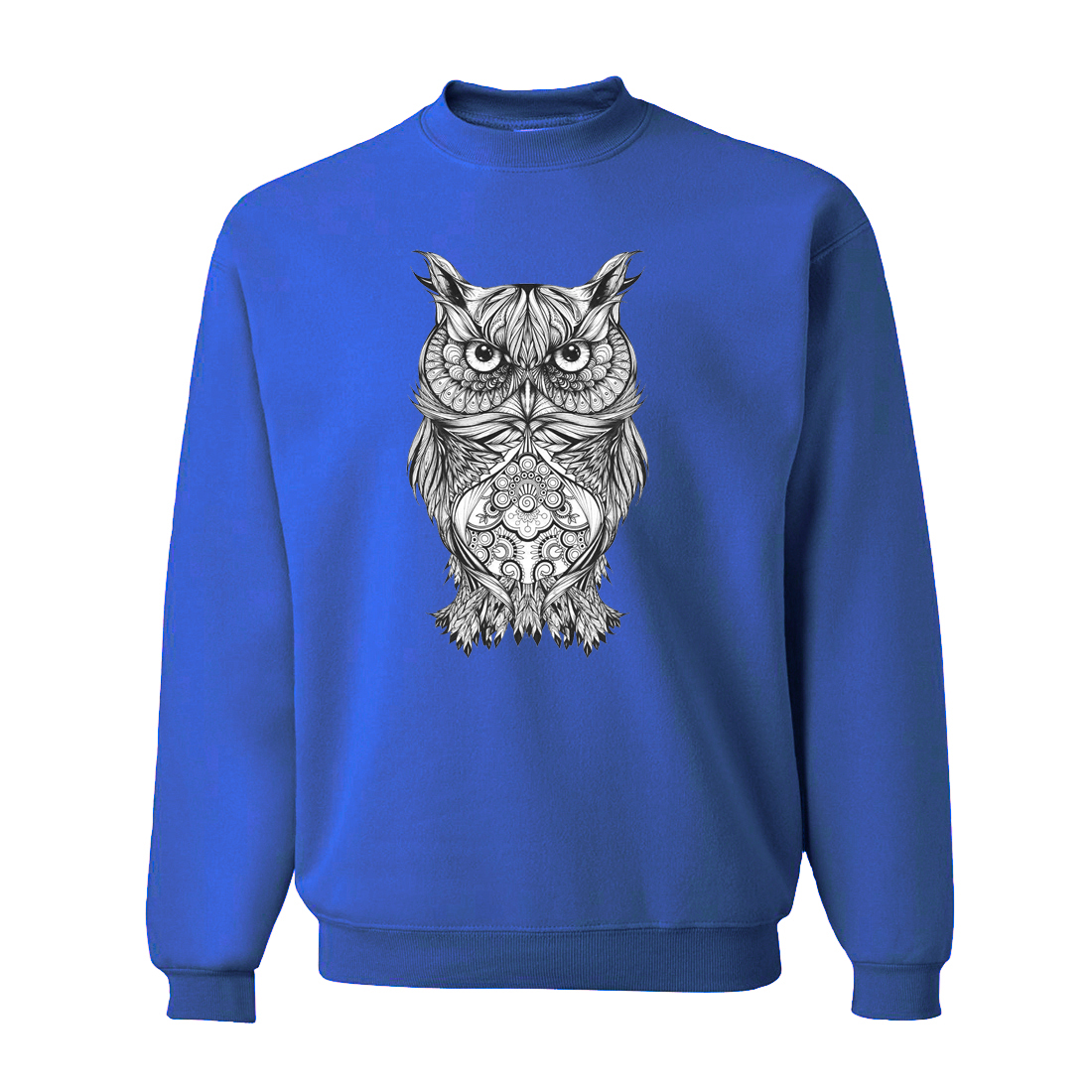 Animal Owl Blue Men's Sweatshirts Hoodies 2019 Spring Casual Sweatshirt Men Long Sleeve Hoodie Animal Punk Brand Clothing CM01