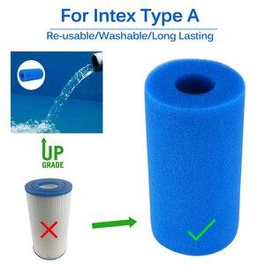 Swimming Pool Foam Filter Sponge Intex Reusable Washable Biofoam Cleaner Pool Foam Filter Sponges Swimming Accessories piscina(China)