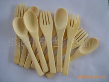 Can be customized bamboo tableware (bamboo knife, bamboo forks, bamboo spoon, etc.)