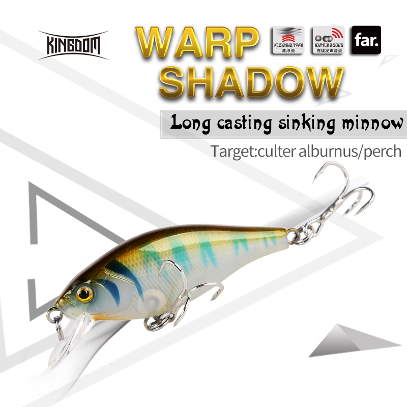 Kingdom Fishing Hard Lures Sinking Minnow 55mm 6.5g Plastic Bait Four Colors Available Model 7501 2017 bearking fishing tackle hot model new fishing lures hard bait minnow 4mixed colors pencil bait 11cm 12g sinking