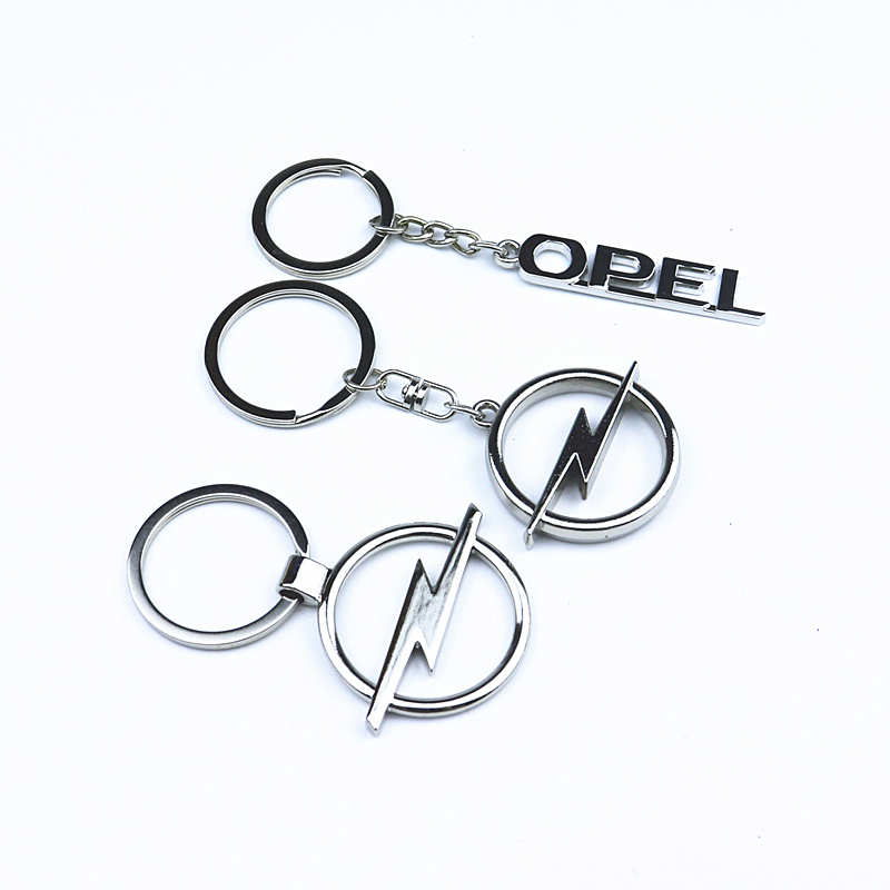 3D Metal Emblem Car Key Ring For For Opel Astra H G J Insignia Mokka Zafira Corsa Vectra C D Antara Keychain Car Accessories