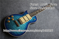 Hot Selling Vintage Blue Quilted Finish Left Handed Ace Frehley Suneye LP Guitars Electric China In Stock