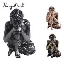 MagiDeal indyjski posąg buddy medytacji odpoczynku rzeźby ręcznie malowane figurki-home Decor prezent