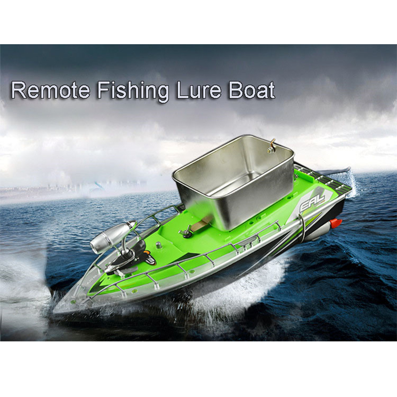 Impact-resistant Remote fishing play nest ship Mini RC Bait Fishing Boat Fish Finder Boat Lure Boat Tackle battery indicator