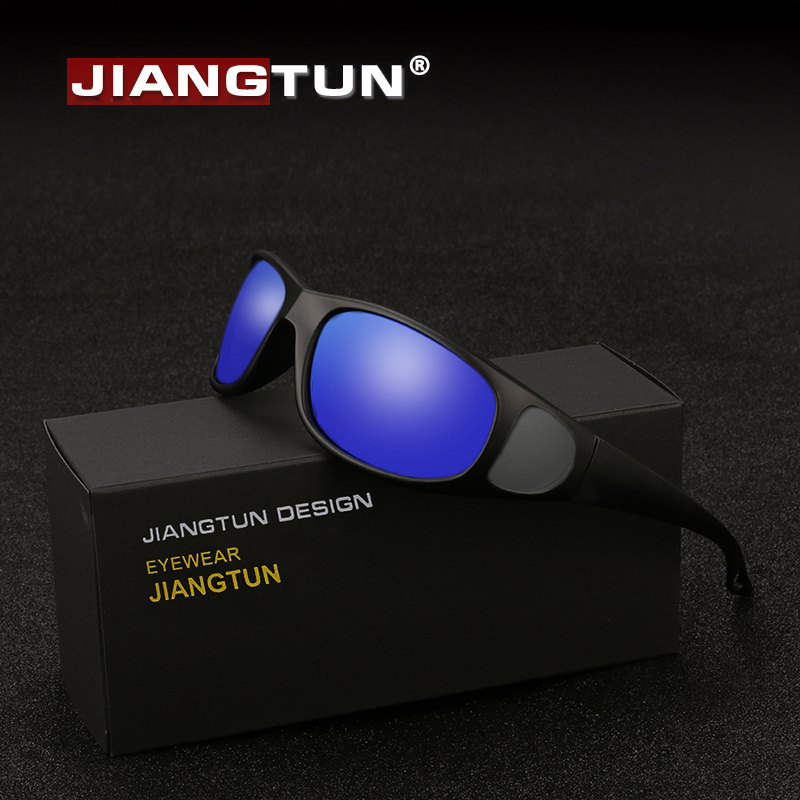 JIANGTUN Hot Óculos Polarizados Polaroid Óculos Janela Lateral Projeto Condução Oculos de sol Masculino Óculos De Sol Anti-UV Pesca