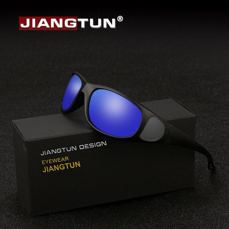 Jiangtun óculos de sol polarizados óculos polaroid janela lateral design condução óculos de sol anti-uv óculos de sol masculino