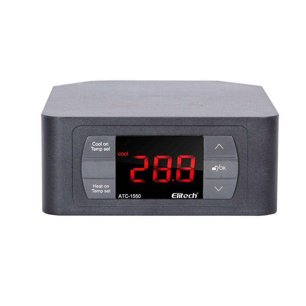 Elitech ATC-1550 précâblé régulateur de température Thermostat refroidissement automatique chauffage 220 V W/2 prises UK/EU