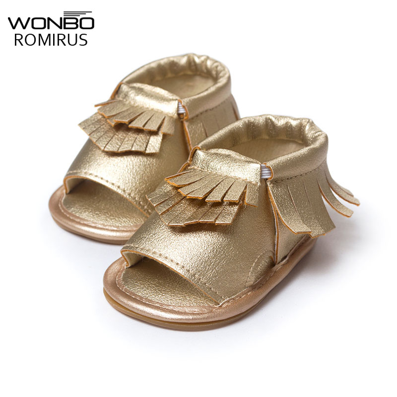 Wholesales PU Leather Fringe Newborn Baby Girl Boy Crib First Walkers Soft Soled Summer Baby Moccasins Moccs Shoes