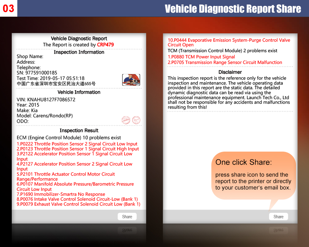 LAUNCH X431 CRP479 OBD2 Scanner ABS TPMS DPF 15 Reset Service code reader  Automotive scanner Wifi Car Diagnostic Tool PK CRP429C