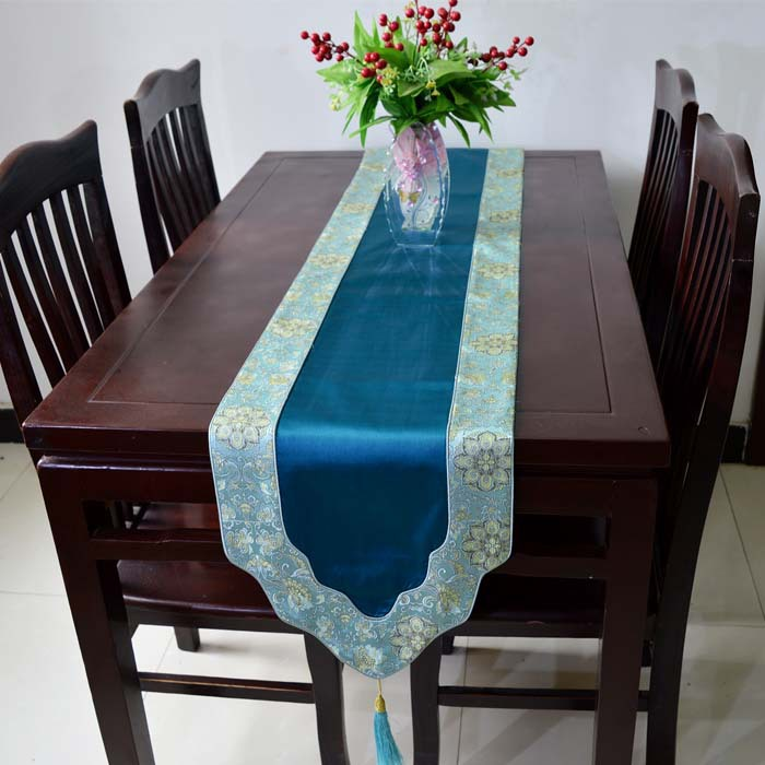 Beau Latest Luxury Decorative Dinner Party Table Runners Silk Brocade Length  Coffee Tablecloth Fashion Bed Runner Multi Color Options In Table Runners  From Home ...