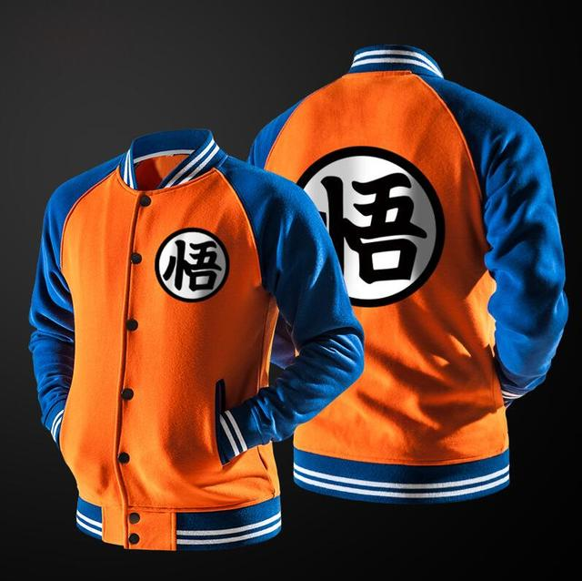 Goku's Turtle Hermit Symbol Varsity Jacket (Orange)