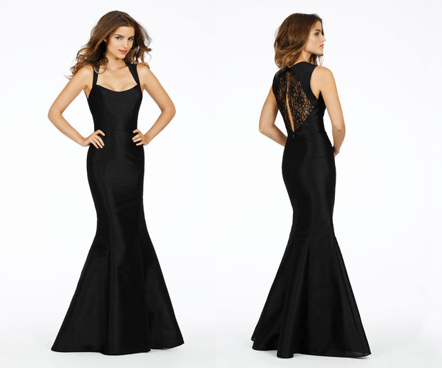Classic Long Black Bridesmaid Dresses