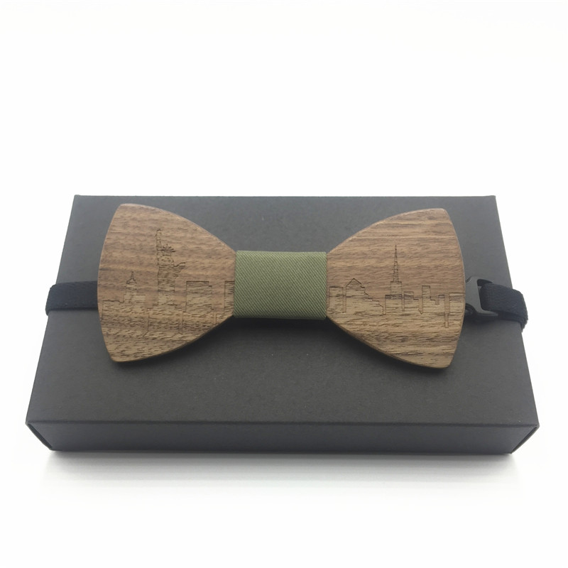 New 2017 wooden bow tie pocket married bow ties male bow candy color butterfly ties for mens bowties christmas gift