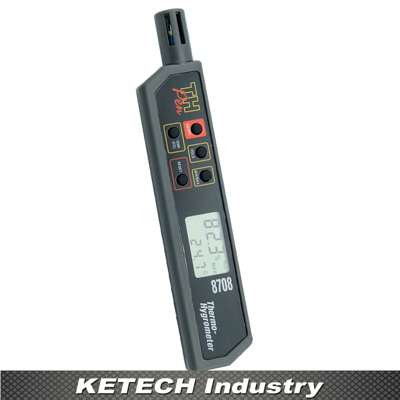 AZ-8708 Pen Type Hygro-thermometer Temperature and Humidity Tester tpi 306c 40 150 pen type digital thermometer