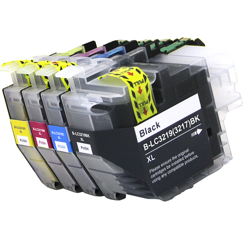 LC3217 For Brother LC3219 LC3219XL Ink Cartridge For Brother MFC-J5330DW J5335DW J5730DW J5930DW J6530DW J6930DW J6935DW Printer free shipping for brother lc985 ink cartridge for brother mfc 415w ink jet printer