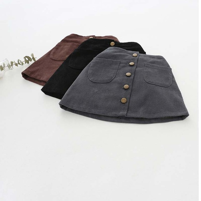 Girls' Straight Cotton Skirt