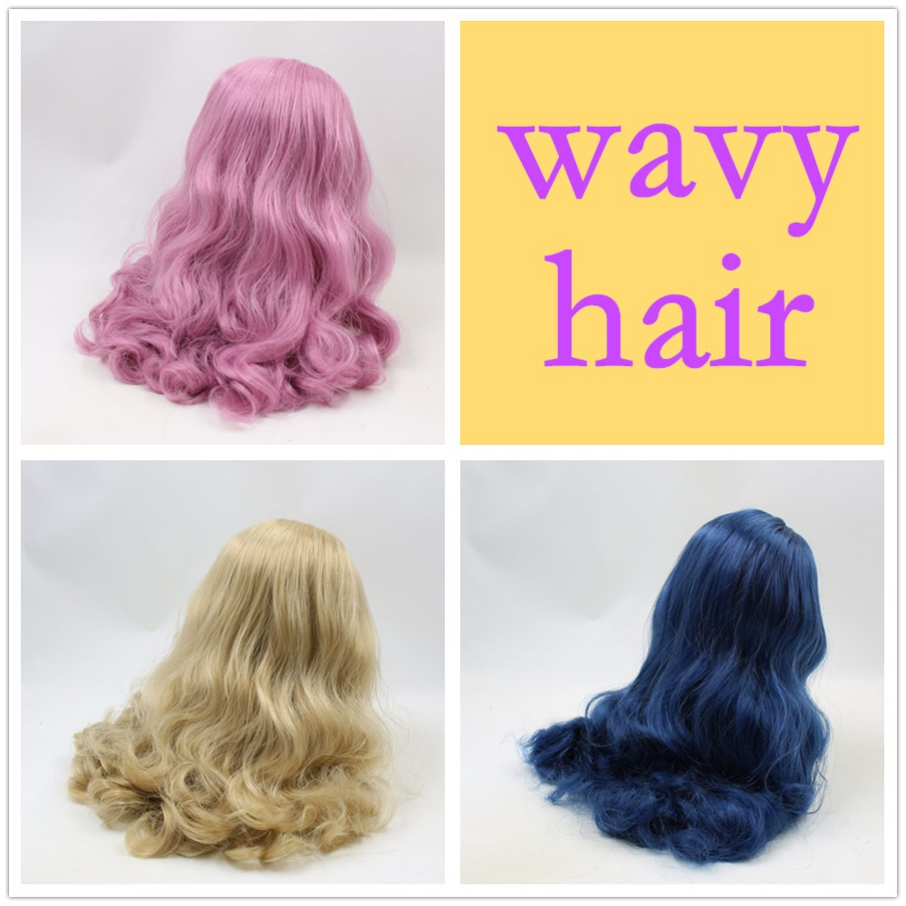 for blyth doll icy wig only rbl scalp and dome blue pink golden hair