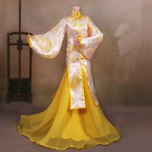 Image 2 - Handgemaakte Oude Kostuum Meisje Jurk Chinese Doll Kleding Voor 1/3 Bjd Poppen Accessoires Voor Doll Speelgoed Voor Meisjes