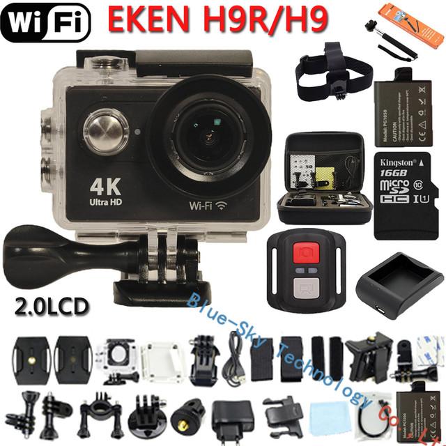 Original Eken H9/H9R Ultra HD 4 K Câmera de Ação Wi-fi Controle remoto de Vídeo De Esportes DVR DV Cam ir pro Câmera À Prova D' Água