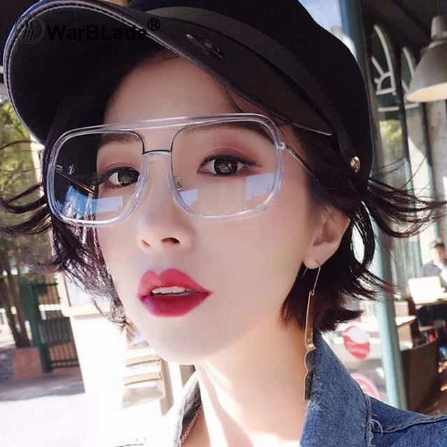 467d14bd40 WarBLade Classic Super Light-weight Square Eyewear Men Glasses Frame Women  Coating Anti Radiation Clear Lens Computer Glasses