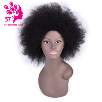 Dream ice's Kinky Straight Synthetic Wig African American Short Kanekalon Wigs For Women Miss Coco Wig