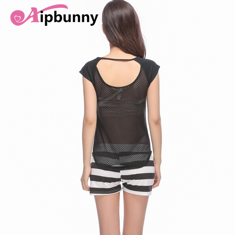Aipbunny Backless New Mesh Women Sexy Gym Sportswear Vest Fitness Woman Clothing Running Shirts Quick Dry Black Yoga Tank Tops
