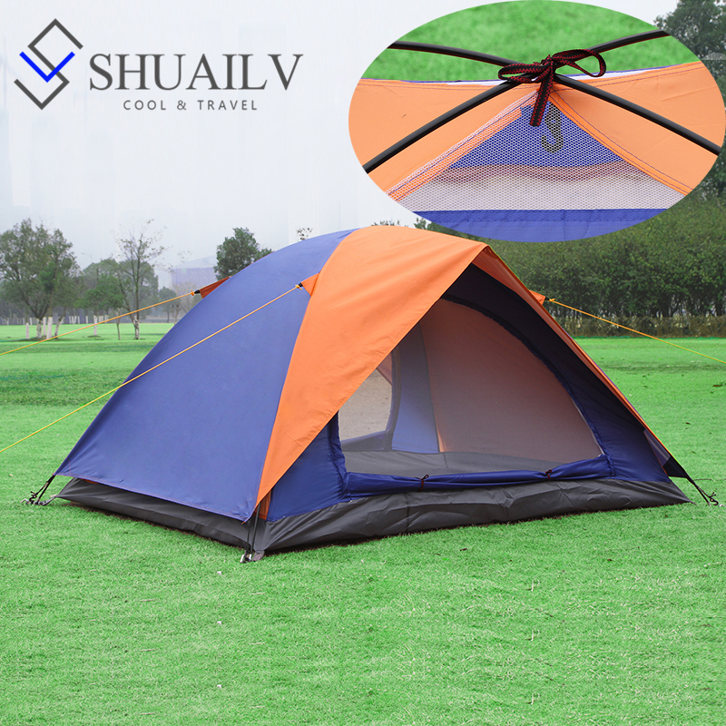 New Couple Lovers Beach Tent Waterproof Two Layer Rainproof Sunshade Ultra Light Tent 2 Person In Camping Outdoor Hiking Tents high quality outdoor 2 person camping tent double layer aluminum rod ultralight tent with snow skirt oneroad windsnow 2 plus