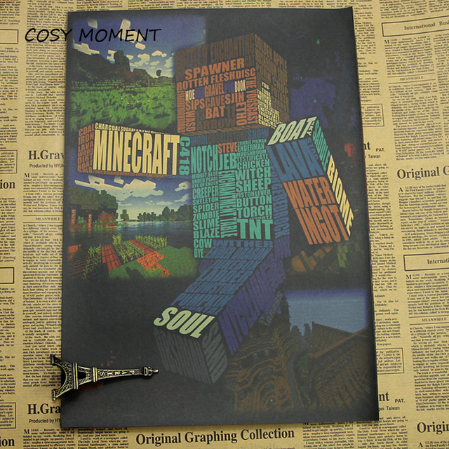 COSY MOMENT My World Spiel Poster Um Die Minecraft Virtuelle Sandbox - Minecraft block spiele