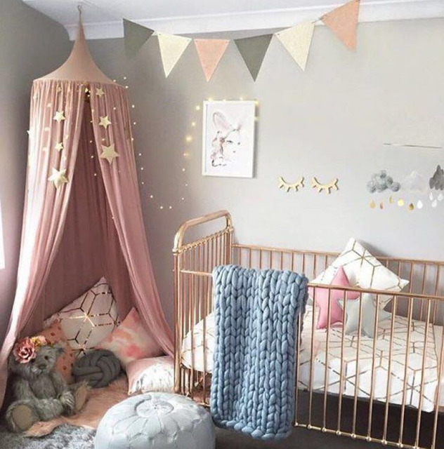 Simple Moskitonetz Baldachin Kuppel Prinzessin Bett Zelte Dekorieren Fr  Baby Kinder Lesen Play Indoor With Kinder Prinzessin Bett