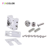 2019 Funcolor Metal Bulldog Extruder for 1.75/3.0mm Compatible E3D J-head MK8 Extruder Remote Proximity for 3D Printer Parts 3d printer new 3 colors 3 in 1 out extrusion compatible with e3d bulldog and mk8 printer remote extruder for 1 75mm filament