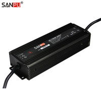 SANPU PFC SMPS Waterproof IP67 LED 12 Volt Power Supply AC DC Transformer 12V Source of Power 150W 12A 12VDC LED Driver Aluminum