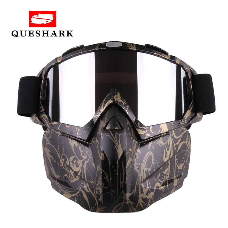 Queshark Men Women Ski Snowboard Snowmobile Goggles Mask Snow Winter Skiing Ski Glasses Motocross Sunglasses