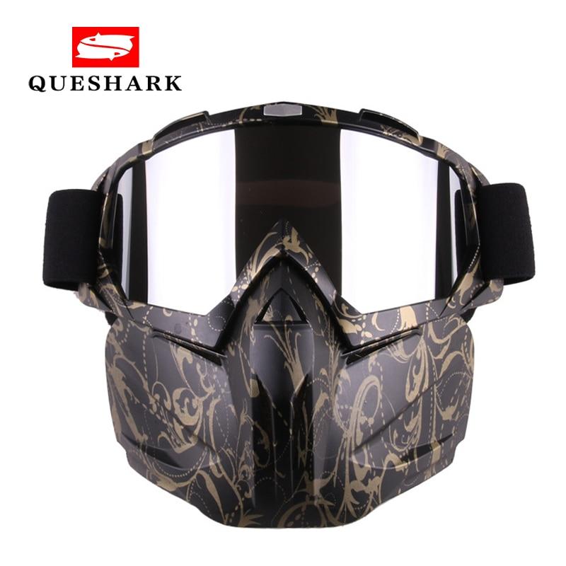 Queshark Men Women Ski Snowboard Snowmobile Goggles Mask Snow Winter Skiing Ski Glasses Motocross Sunglasses