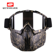 Queshark Men Women Ski Snowboard Snowmobile Goggles Mask Sno