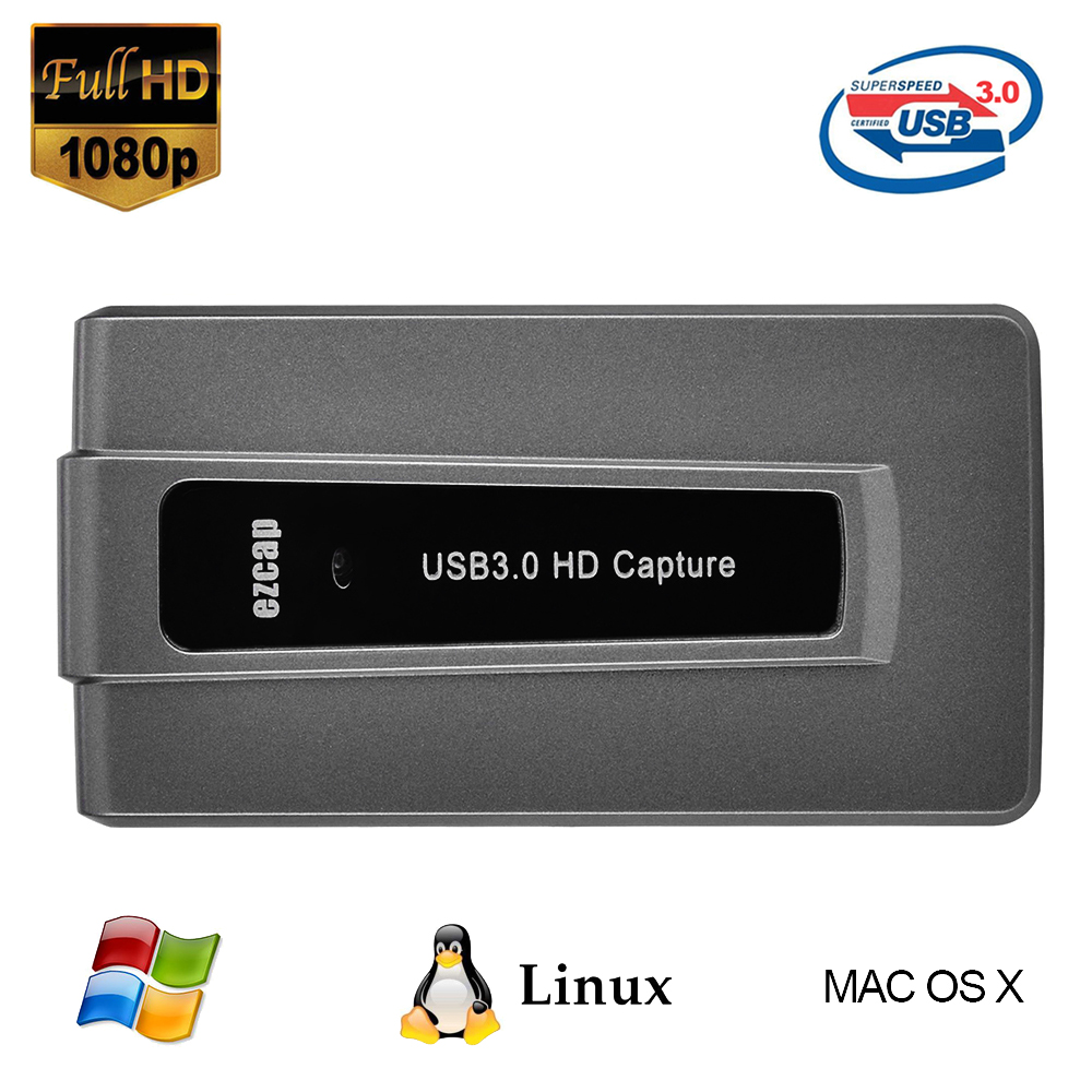 ezcap287 USB 3 0 HD Game Capture Live Streaming Record 1080p 60fps Plug and Play for