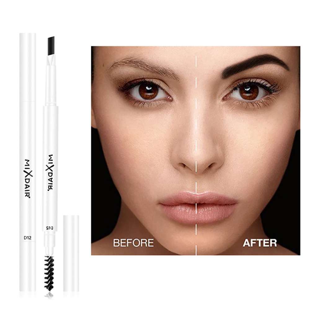 MIXDAIR dual ended eyebrow pencil with eyebrow brush fashion white apperance waterproof long lasting automatic eyebrow penMD007 2