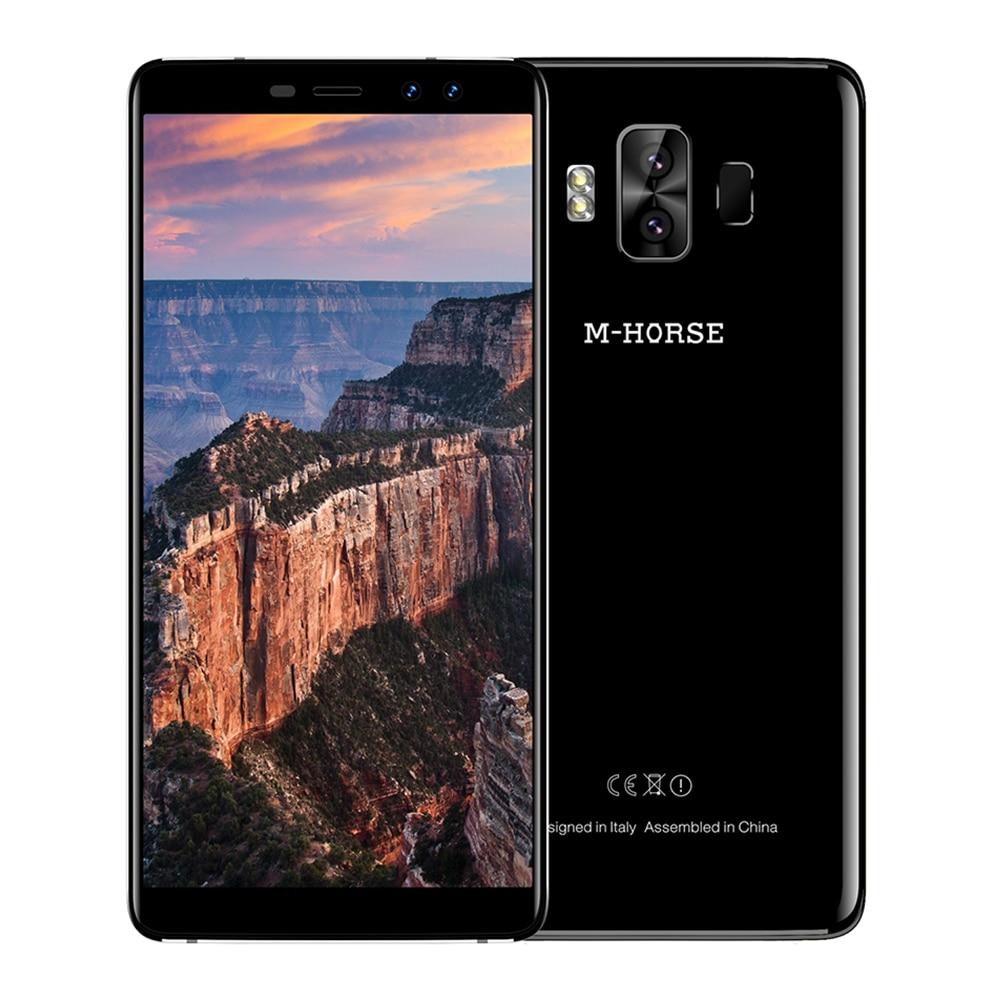 M-HORSE Pure 1 5.7'' HD Full Screen 4G Mobile Phone Android 7.0 Four Cams 4380mAh Quad Core 3GB+32GB Smartphone Fingerprint 8MP