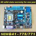 Novo para intel g41 motherboard 775 ddr3 771 suporte para xeon e5430/q9650