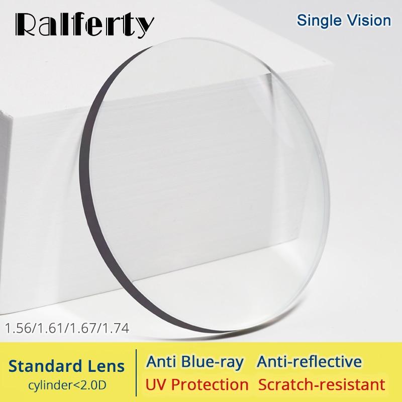 Ralferty 1,56, 1,61, 1,67, 1,74 Lentes Anti-Luz Azul gafas lente ojos claros miopía dioptrías delgada HMC Lentes