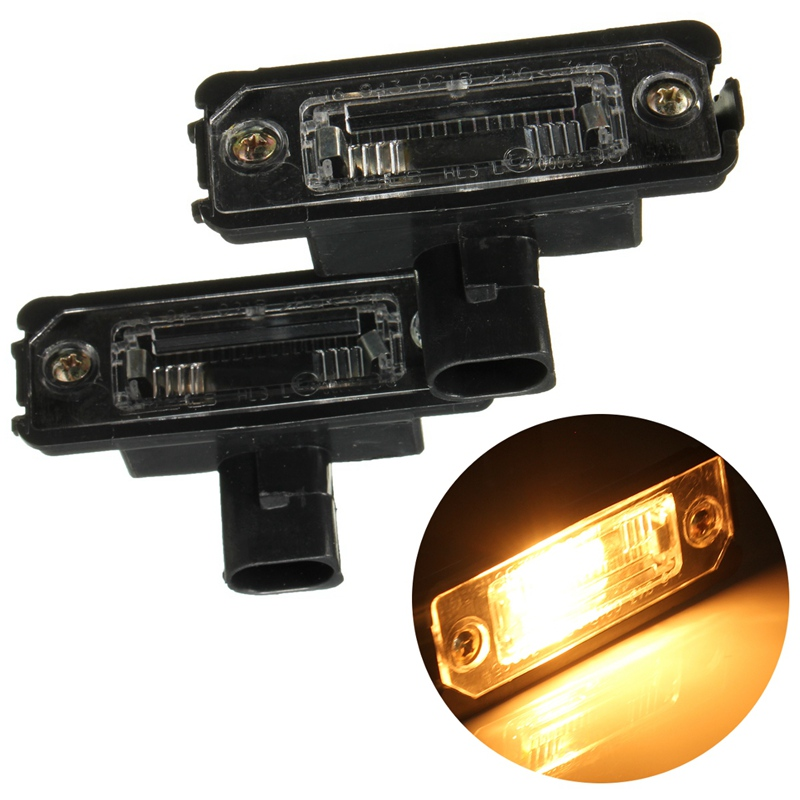 2Pcs Oem License Number Plate Light Lamps For VW Smd LED For Volkswagen Golf 4 5 6 For Jetta For Polo For Passat B6 куклы s s функциональная кукла