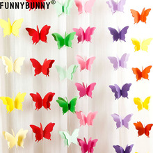 FUNNYBUNNY  Butterfly Wedding Paper Bunting Banner Photo Props Party Hanging Home Decoration