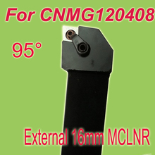 Free Shiping MCLNR 16*16*100mm 16mm Shank  External CNMG Inserts Holder Lathe Tools For Lathe Machine Work on Metal