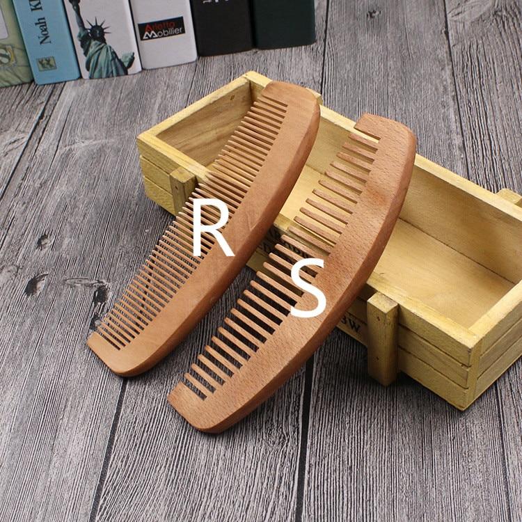 TI06 Massage comb hair wood peach LOGO custom engraving