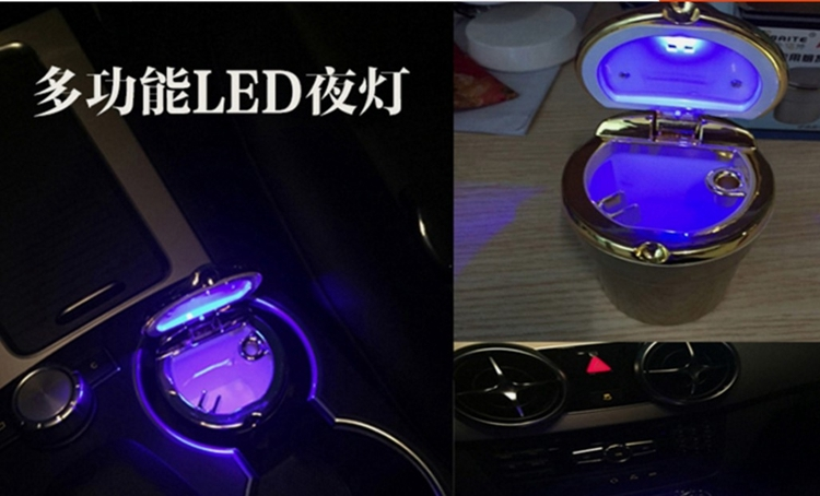 Image 5 - High Quality Car Led Ashtray Holder Cup Cigarette Ash Box For Toyota Camry Highlander Prado Crown Land Cruiser Prius Vitz Prius-in Car Ashtray from Automobiles & Motorcycles