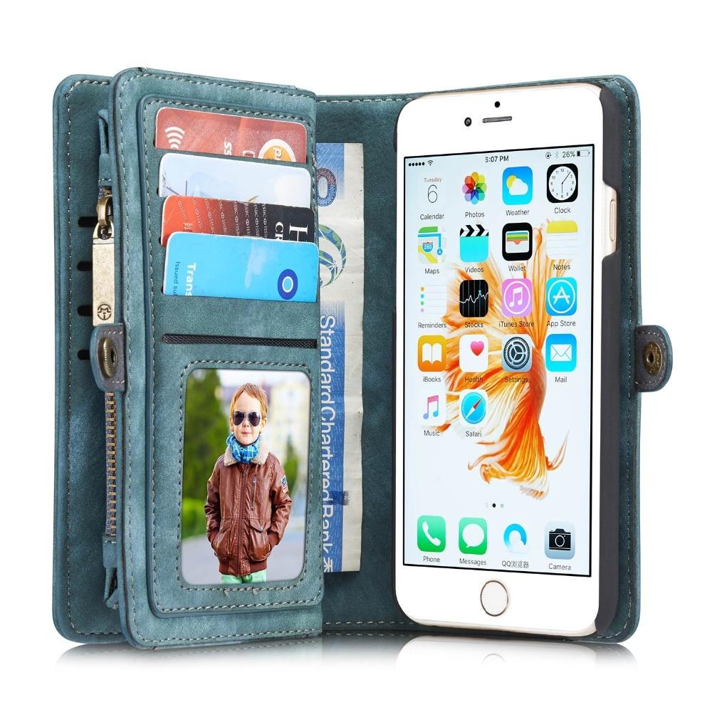 Цена за CaseMe Роскошный Кожаный Чехол Wallet Флип Case Мобильный Телефон Сумки случаи Capinha Coque для Apple iPhone 6 Case Обложка iPhone6 капа