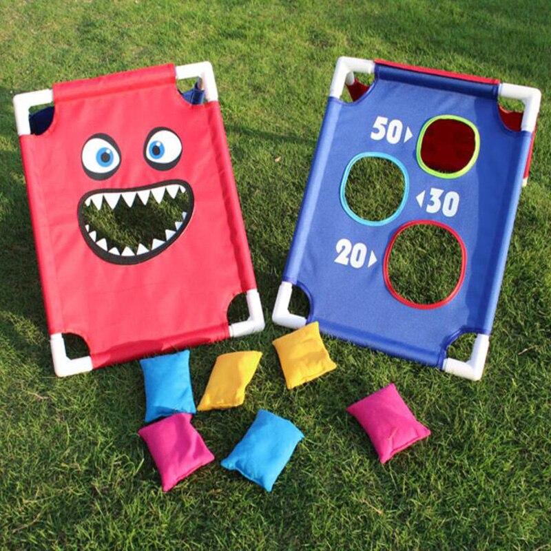 Enfants Parent-enfant Sports de plein air amusants formation sensorielle jeter sac de sable jeu de lancer Portable PVC sac de sable planche costume